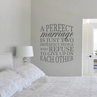 "A Perfect Marriage Quote Wall Decal (31"" wide x 36"")"