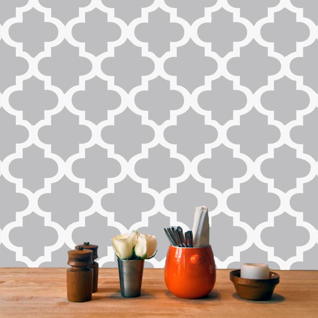 Born Moroccan Tile - Wall Decal Sheet (Silver), Size Smal...
