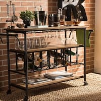 Pine Canopy Rue Vintage Industrial Dark Brown Cart