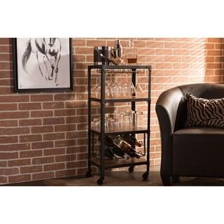 Vintage Industrial Dark Brown Cart by Baxton Studio