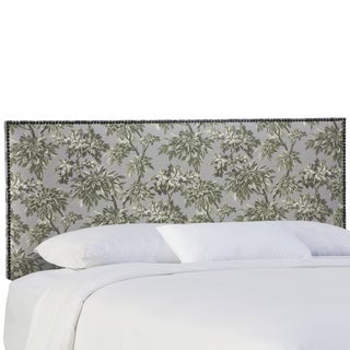 Skyline Furniture Sylvan Toile Greystone Nail Button Headboard