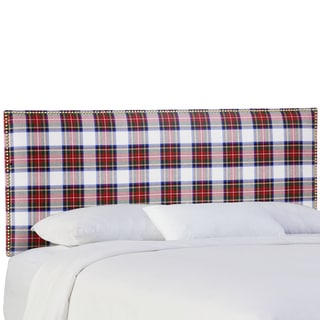 Skyline Furniture Nail Button Headboard in Stewart Dress Multi