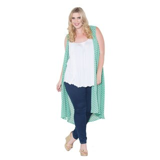 Sealed with a Kiss Women's Plus Size 'Terri' Chiffon Duster