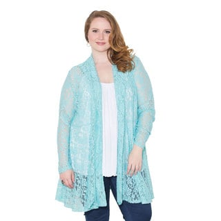 Sealed with a Kiss Women's Plus Size ' Cielo' Lace Cardigan