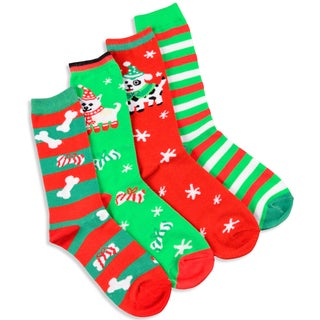 Women's Christmas Holiday Crew Socks (Pack of 4)