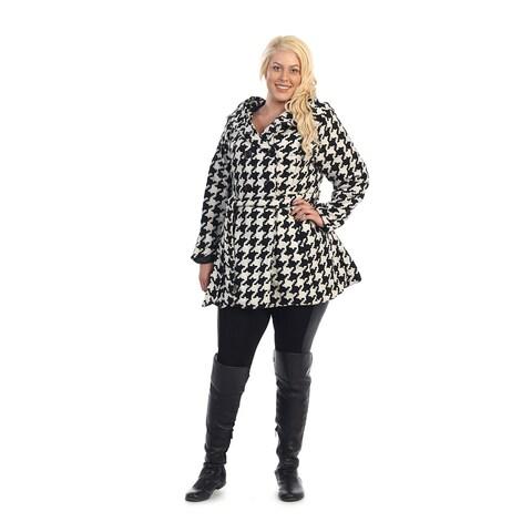 Ella Samani's Missy Houndstooth Jacket with Hood