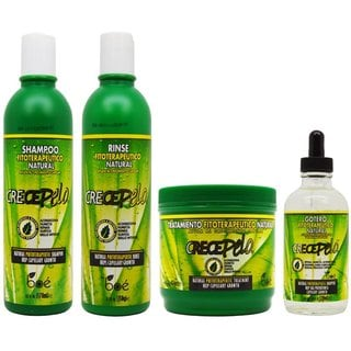 BOE Crece Pelo Fitoterapeutico Natural Shampoo and Rinse and Treatment and Gotero Set
