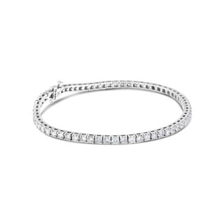 14k White Gold 10ct TDW Round Diamond-cut Tennis Bracelet (H-I, SI2-I1)