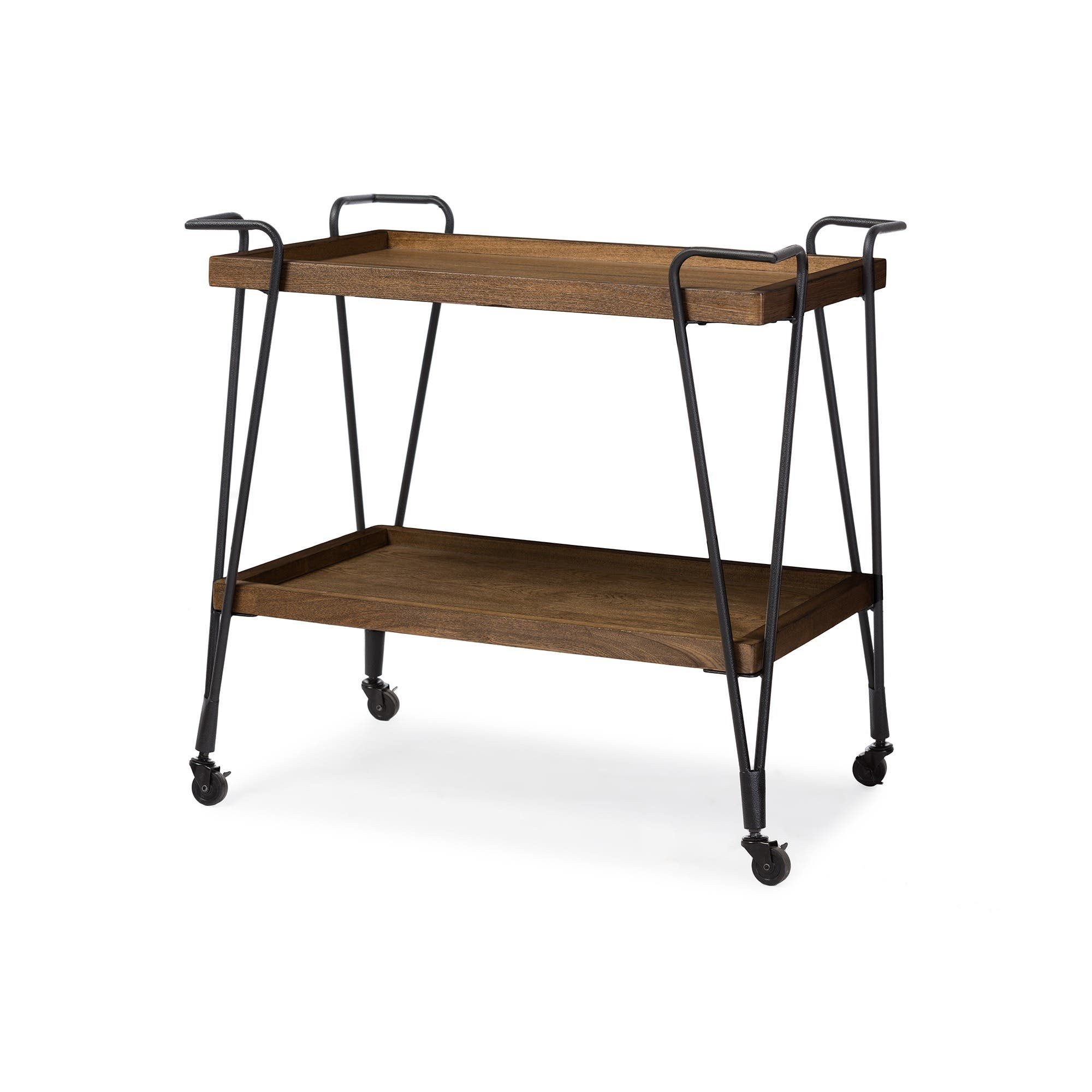 Baxton Studio Brown Industrial Kitchen Cart At Lowes Com: Home Bars For Less