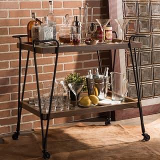 Carbon Loft Fred Dark Brown/ Black Industrial-style Cart