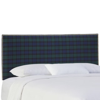 Skyline Furniture Nail Button Headboard in Blackwatch