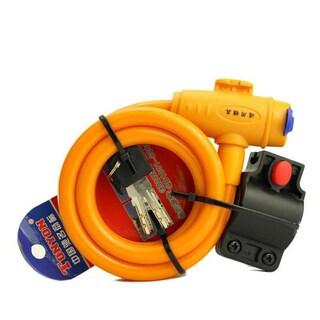 Steel Wire Bicycle Security Lock (Option: Orange)
