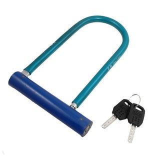 Blue Alloy U Lock