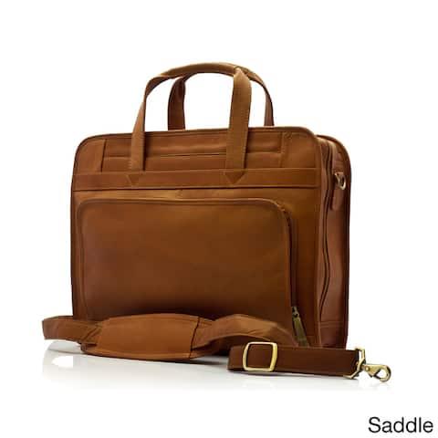 Muiska Vaquetta Leather Lisbon Zip-Around Slim 17-inch Laptop Briefcase