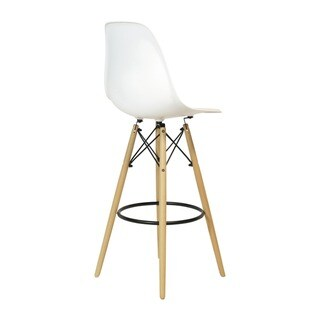 Eames Style Bar Stool with Wood Base