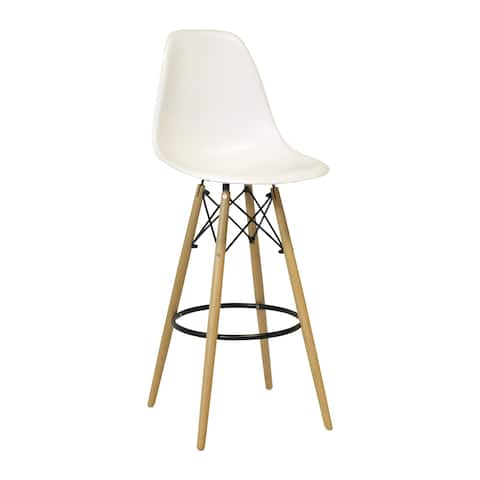 Handmade Bar Stool with Wood Base (India)