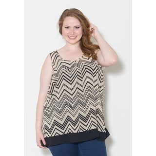 Sealed with a Kiss Women's Plus Size 'Cathy' Chiffon Tank