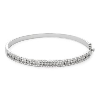 1 Carat Fashion Diamond Bangle in Sterling Silver (H-I, I1-I2)