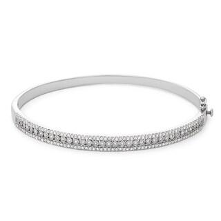1 Carat Fashion Diamond Bangle in Sterling Silver