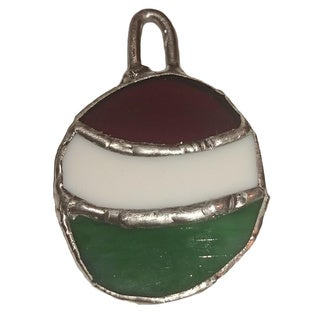 Stained Glass Green/ Red Christmas Tree Ornament