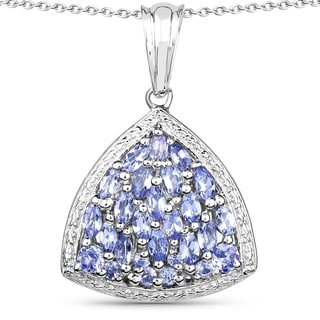 Link to Malaika .925 Sterling Silver 1.96 Carat Genuine Tanzanite Pendant Similar Items in Necklaces
