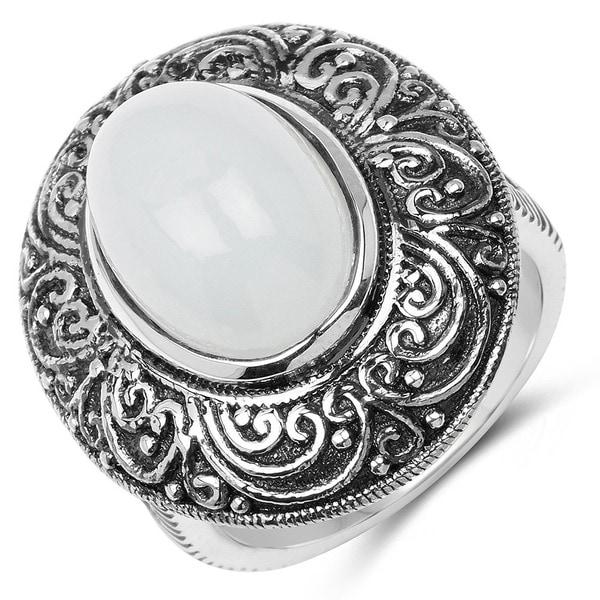 Malaika .925 Sterling Silver 6.65 Carat Genuine Aquamarine Ring