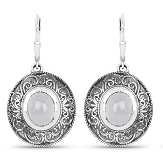 Malaika .925 Sterling Silver 5.42 Carat Genuine Aquamarine Earrings