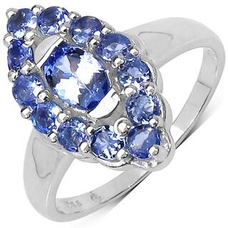 Malaika .925 Sterling Silver 1.28 Carat Genuine Tanzanite Ring