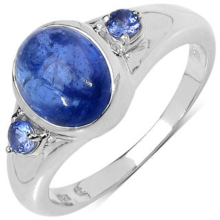 Malaika .925 Sterling Silver 2.59 Carat Genuine Tanzanite Ring