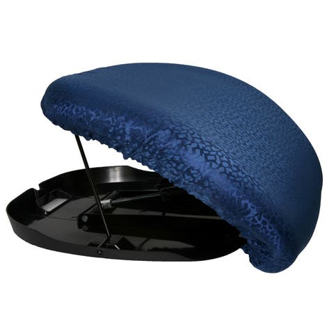 Easy-Up Lift Assist Cushioned Chair - Supports Up to 220 Pounds - Portable Lift Chair - Lift Chair, Blue Cushion/Black Frame