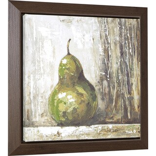 Hobbitholeco. 'Pear' 23 x 23-inch Oil Painting Wall Art