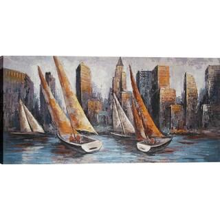 Hobbitholeco. 'Bayward Sails' 55 x 27.5-inch Oil Wall Art