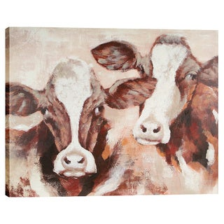 Cow Pals 48X40'' Oil Painting Wall Art