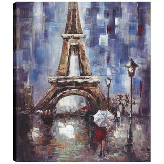 Hobbitholeco. 'Eiffel Tower' 40 x 50-inch Oil Wall Art
