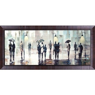 City Walk 25X64'' Framed Oil Wall Art
