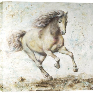 Running Horse 47X47'' Oil Wall Art