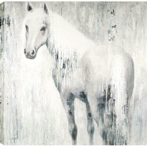 Horse In Blue 48X48'' Oil Wall Art