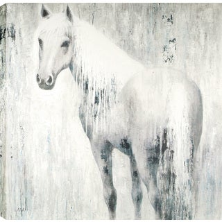 Horse In Blue 48X48'' Oil Wall Art