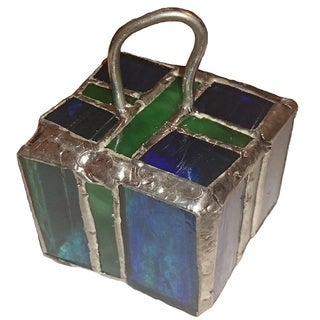 3D Stained Glass Gift Box Ornament