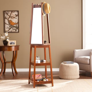 Harper Blvd Arnie Espresso Swivel Mirror Hall Tree