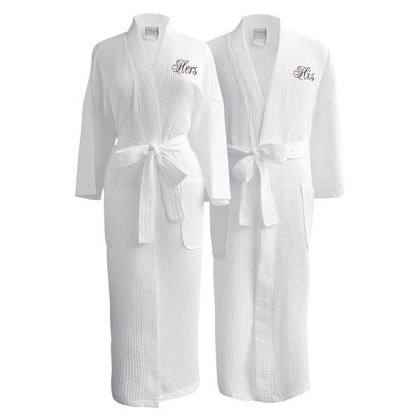 Set of 8 Waffle Weave Robes Monogram Included!