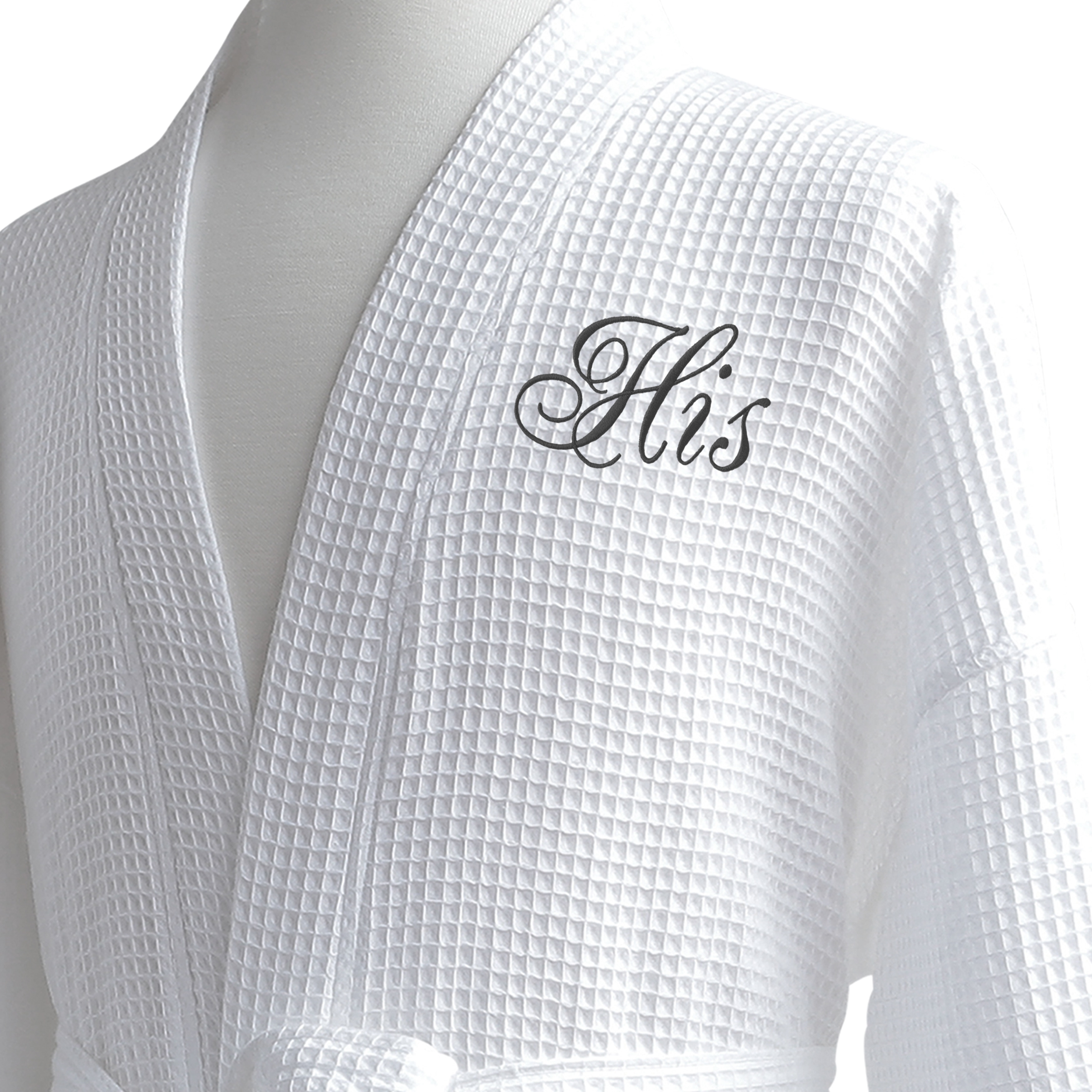0c6d18d774 Shop Conrad Egyptian Cotton His   Hers Waffle Spa Robe Set (Gift Packaging)  - Free Shipping Today - Overstock - 10626814