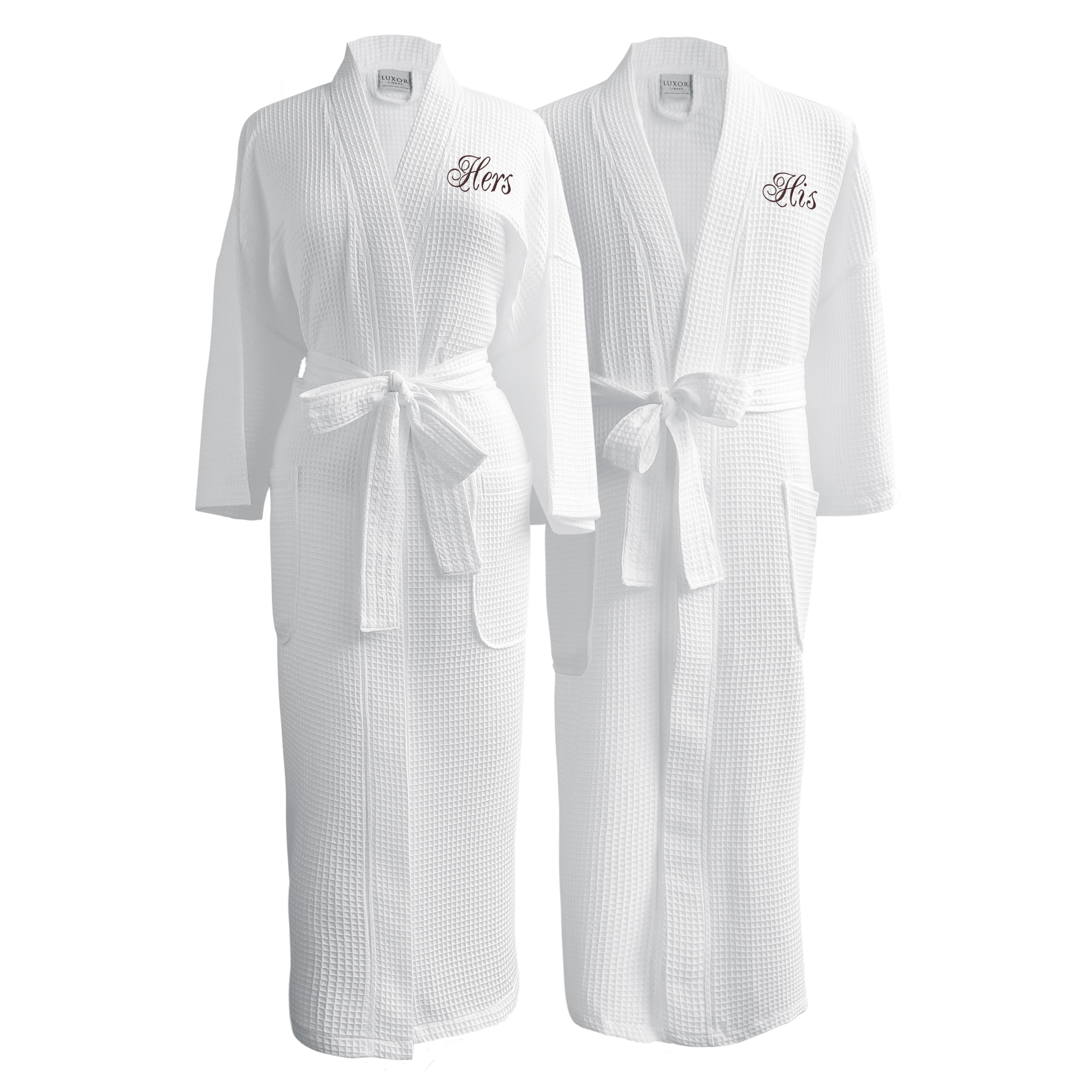Shop Conrad Egyptian Cotton His   Hers Waffle Spa Robe Set (Gift Packaging)  - Free Shipping Today - Overstock - 10626814 a983a2fb3