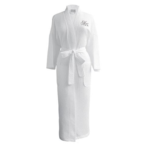 "Conrad Egyptian Cotton ""Mrs."" Waffle Spa Robe"