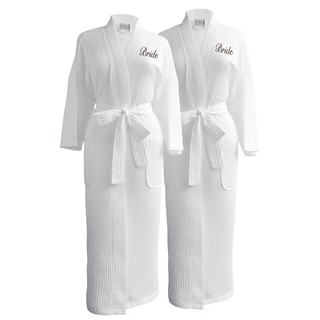 Conrad Egyptian Cotton Bride & Bride Waffle Spa Robe Set