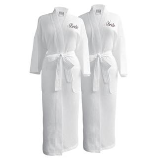 Conrad Egyptian Cotton Bride & Bride Waffle Spa Robe Set