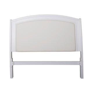 Avalon II White Truffle Leather Headboard Platform Bed