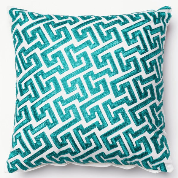 Shop Embroidered Geometric Fretwork 40inch Throw Pillow Or Pillow Cool Fretwork Decorative Pillow