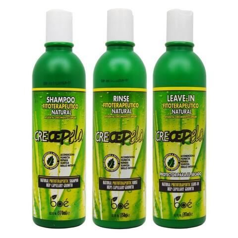 BOE Crece Pelo Fitoterapeutico Natural Shampoo, Rinse, and Leave-in Set