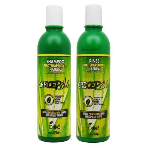 BOE Crece Pelo Fitoterapeutico Natural Shampoo and Rinse Duo Set
